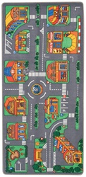"Let's Go Shopping Play Rug - Rectangle - 36"" x 80"" - LC171 - Learning Carpets"