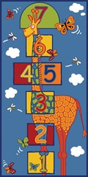 "Hoppin High In The Sky Play Rug - Rectangle - 36"" x 80"" - LC185 - Learning Carpets"