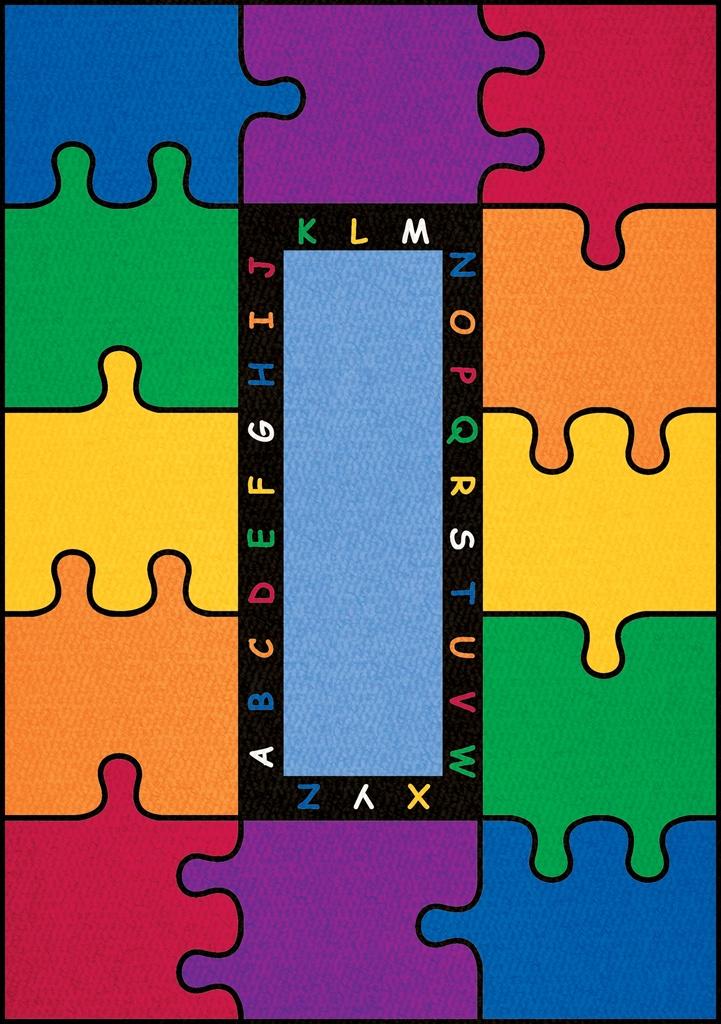 ABC Rainbow Puzzle Rug