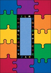 ABC Rainbow Puzzle Rug - Rectangle - 6' x 9' - LCCPR450 - Learning Carpets