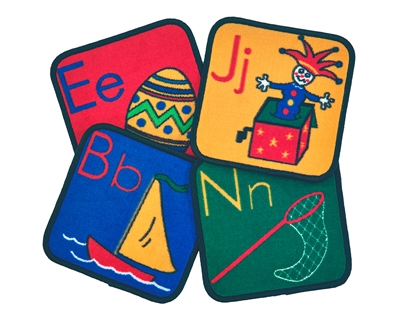 ABC Phonic Squares - Square - Set of 26 - CFK1026 - Carpets for Kids