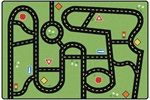 Drive & Play Accent Rug - CFK102X - Carpets for Kids