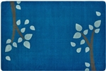 KIDSoft Branching Out Rug - Blue - Rectangle - 6' x 9' - CFK1056 - Carpets for Kids