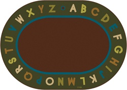 Alphabet Circletime Rug - Nature - CFK107XX - Carpets for Kids