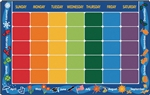 "Calendar Rug - Rectangle - 8'4"" x 13'4"" - CFK1134 - Carpets for Kids"