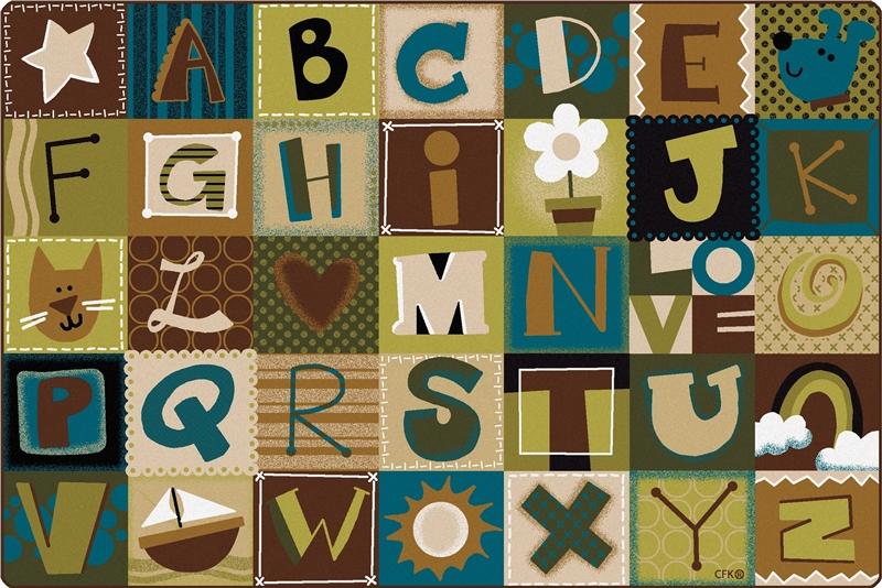 toddler alphabet blocks rug nature | cfk117xx | carpets for kids