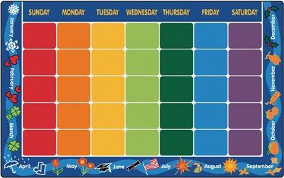 Calendar Rug Learning Carpet Months Amp Days Of The Week