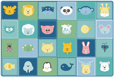 KIDSoft Animal Patchwork Rug - Soft - CFK1854, CFK1856, CFK1858 - Carpets for Kids