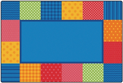 KIDSoft Pattern Blocks Rug - Primary - CFK1954, CFK1956, CFK1958 - Carpets for Kids