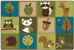 Nature's Friends Toddler Rug - Rectangle - 4' x 6' - CFK22724 - Carpets for Kids