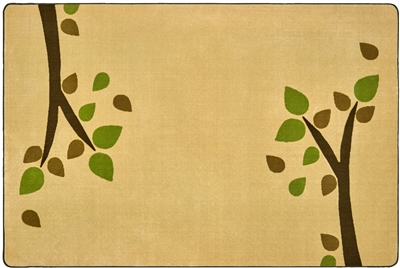 KIDSoft Branching Out Rug - Tan - CFK23754, CFK23756, CFK23758 - Carpets for Kids