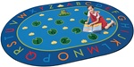 "Hip Hop to the Top Rug - Oval - 8'3"" x 11'8"" - CFK2416 - Carpets for Kids"