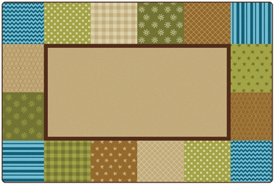 KIDSoft Pattern Blocks Rug - Nature - CFK26754, CFK26756, CFK26758 - Carpets for Kids