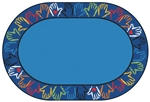 Hands Together Border Rug - CFK28XX - Carpets for Kids