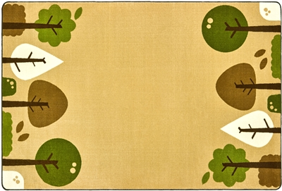 KIDSoft Tranquil Trees Rug - Tan - CFK29754, CFK29756 - Carpets for Kids