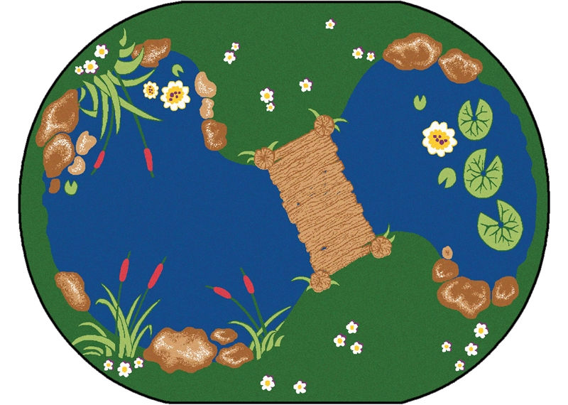 The Pond Rug Classroom Pond Carpet Rtr Kids Rugs