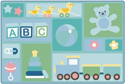 KIDSoft Babys Basics Toddler Rug - CFK3354, CFK3356 - Carpets for Kids