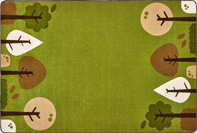 KIDSoft Tranquil Trees Rug - Green - CFK33754, CFK33756 - Carpets for Kids