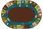 Learning Blocks Rug - Nature - Oval - 6' x 9' - CFK37706 - Carpets for Kids