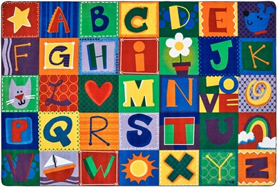 Amazing Toddler Alphabet Blocks Classroom Rug