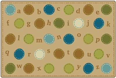 KIDSoft Alphabet Dots Rug - CFK39754, CFK39756, CFK39758 - Carpets for Kids
