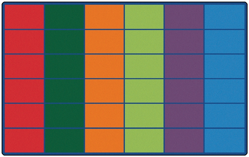 Classroom Rug 25 30 Or 36 Spaces Color Block Rug Rtr