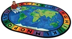 "Circletime Around the World Rug - Oval - 6'9"" x 9'5"" - CFK4106 - Carpets for Kids"