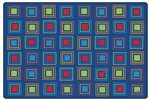 Primary Squares Seating Rug - Rectangle - 8' x 12' - CFK4118 - Carpets for Kids