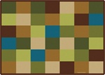 "Nature Blocks Seating Rug - Rectangle - 5'10"" x 8'4"" - CFK41700 - Carpets for Kids"