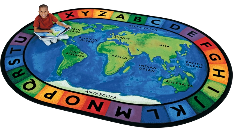 Around The World Geography Rug World Map Area Rug