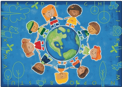 Give the Planet a Hug Rug - CFK44XX - Carpets for Kids