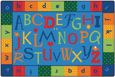 KIDSoft Alphabet Around Literacy Rug - CFK4554, CFK4556, CFK4558 - Carpets for Kids