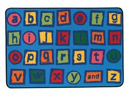 Alphabet Blocks Rug - Rectangle - 4' x 6' - CFK4809 - Carpets for Kids