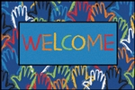 Hands Together Welcome Value Rug - Rectangle - 4' x 6' - CFK4842 - RTR Kids Rugs