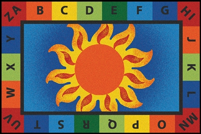 Alphabet Sunny Day Rug - Rectangle - 4' x 6' - CFK4852 - Carpets for Kids