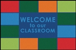 Classroom Welcome Value Rug - Rectangle - 4' x 6' - CFK4860 - RTR Kids Rugs