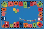 Alphabet Fun Train Rug - Rectangle - 4' x 6' - CFK4880 - Carpets for Kids