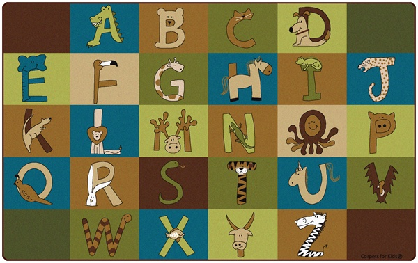 A To Z Animals Rug Nature Rectangle 7 6 Quot X 12 Cfk55762