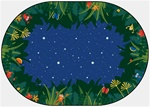 Peaceful Tropical Night Rug - Oval - 8' x 12'- CFK6507 - Carpets for Kids