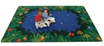 "Peaceful Tropical Night Rug - Rectangle - 3'10"" x 5'5"" - CFK6513 - Carpets for Kids"
