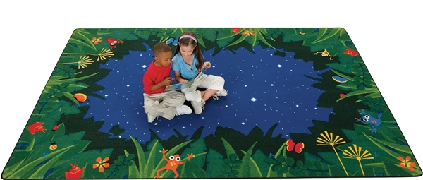 Peaceful Tropical Night Rug - CFK65XX - Carpets for Kids