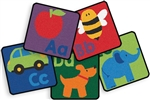 Sequential Seating Literacy Squares - Set of 26 - CFK6726 - Carpets for Kids
