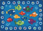 "Fishing for Literacy Rug - Rectangle - 3'10"" x 5'5"" - CFK6813 - Carpets for Kids"