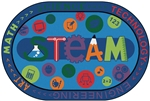 Carpets for Kids STEAM Value PLUS Rug - Oval - 6' x 9' - CFK7257 - Carpets for Kids