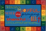 Always Be Joyful Circletime Rug - Rectangle - 6' x 9' - CFK7297 - Carpets for Kids
