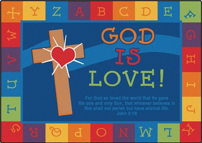God is Love Learning Rug - CFK830XX - Carpets for Kids