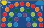 "Rainbow Seating Rug - Rectangle - 7'6"" x 12' - CFK8412 - Carpets for Kids"