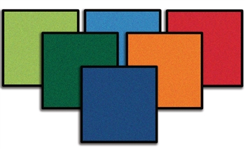 Mini Go Squares - 12 Classroom Carpet Squares - CFK9122 - Carpets for Kids
