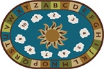 Sunny Day Learn & Play Rug - Nature - Oval - 4' x 6' - CFK94704 - Carpets for Kids