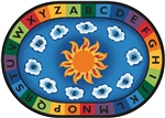 "Sunny Day Learn & Play Rug - Oval - 6'9"" x 9'5"" - CFK9495 - Carpets for Kids"
